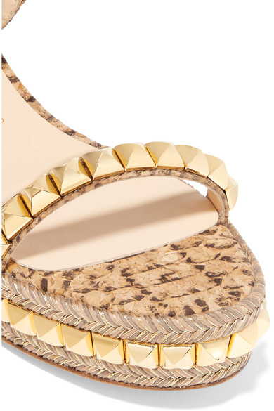 53ae16f12412 Cataclou 60 studded snake-effect cork platform sandals. £495. Zoom In