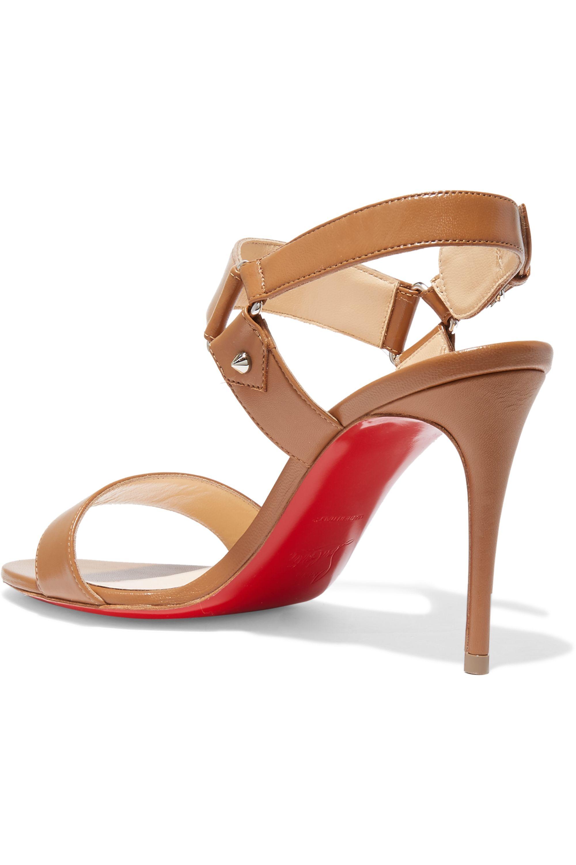 Christian Louboutin Sova 85 leather sandals