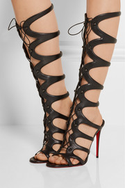 Christian Louboutin Amazoula 100 cutout leather sandals