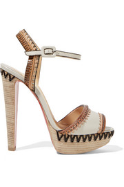 Christian Louboutin Trepi High 140 embellished leather sandals