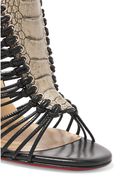 Christian Louboutin | Amal 100 ostrich and leather sandals | NET-A ...