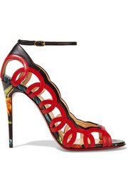 Christian Louboutin Houla Hot 100 printed leather sandals