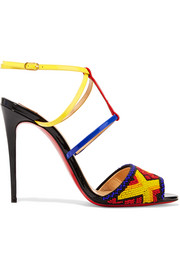 Christian Louboutin Tipika 100 beaded patent-leather sandals