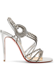 Christian Louboutin Girlsbestfriend 100 crystal-embellished leather sandals