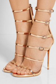 Giuseppe Zanotti Mirrored-leather sandals