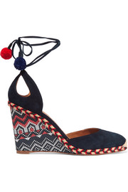 Palm Beach embroidered wedge espadrilles