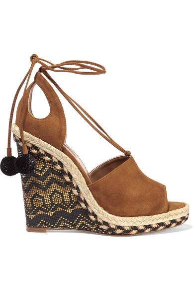 f93fd664d5f Palm Springs cutout suede espadrille wedge sandals