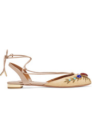 Desert Moon embellished raffia sandals