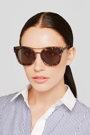 Bottega Veneta Cat-eye acetate and bronze-tone sunglasses