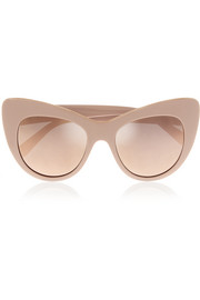 Stella McCartney Cat-eye chain-embellished acetate mirrored sunglasses