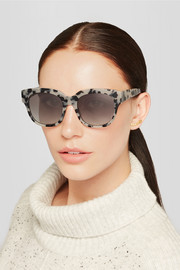 Stella McCartney Square-frame chain-embellished acetate sunglasses