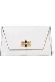 Gallery Uptown woven leather clutch
