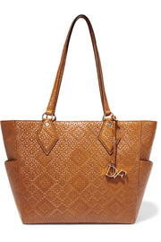 Voyage BFF basketweave leather tote