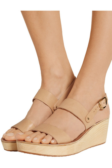 77685225f1c Ancient Greek Sandals. Clio Clog leather wedge sandals