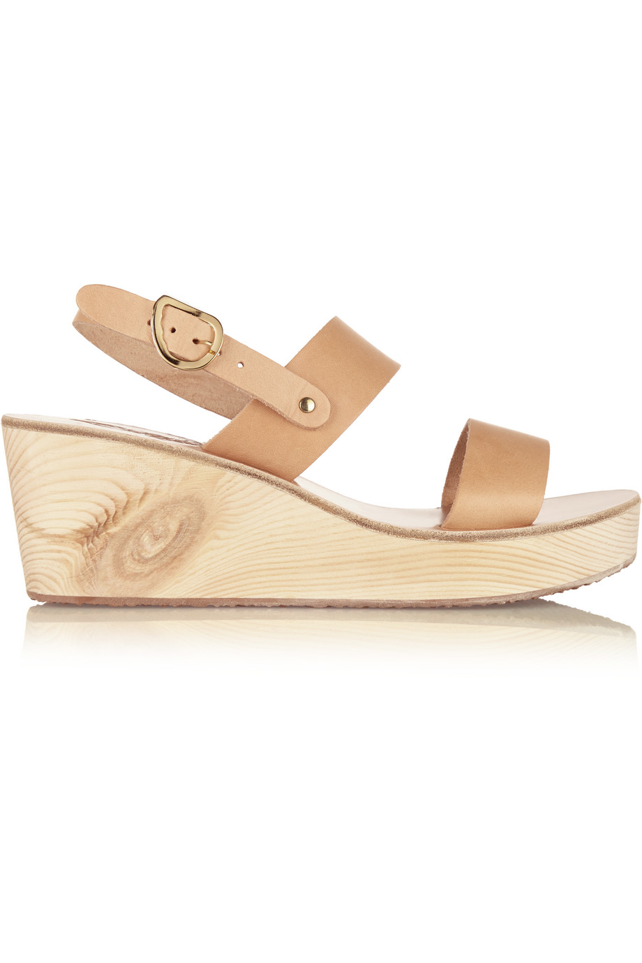 Clio Clog Leather Wedge Sandals, Ancient Greek Sandals, Women's US Size: 5.5, Size: 36