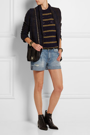 Current/Elliott The Boyfriend distressed stretch-denim shorts
