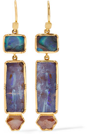 Brooke Gregson Orbit 18-karat gold, opal and diamond earrings