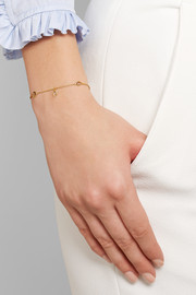 Pippa Small 18-karat gold diamond bracelet