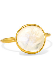 18-karat gold moonstone ring