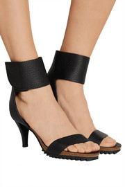 Wendel textured-leather sandals