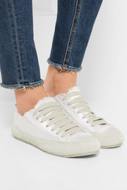 Pedro Garcia Parson silk-satin and suede sneakers