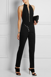 Halterneck stretch-crepe bodysuit
