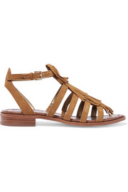 Estelle fringed suede sandals