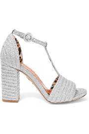 Charlotte Olympia Jane metallic raffia sandals