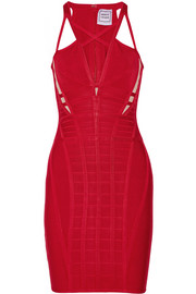 Hervé Léger Elliana cutout bandage mini dress