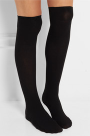 Wolford Louise ribbed stretch cotton-blend over-the-knee socks