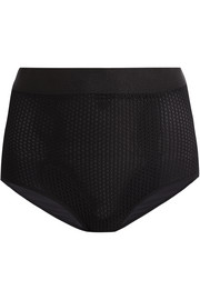 Netstation stretch-mesh and jersey control briefs