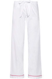 Cotton-poplin pajama pants