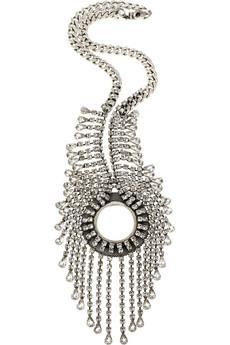 Dannijo|Winslet silver plated Swarovski necklace|NET-A-PORTER.COM from net-a-porter.com