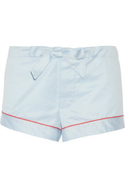 Cotton-sateen pajama shorts