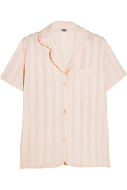 Shadow Stripe cotton-gauze pajama top