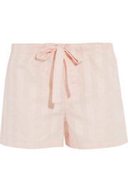 Shadow Stripe cotton-gauze pajama shorts