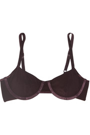 Sheer Tactel® underwired bra
