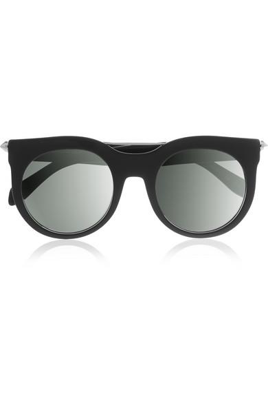 abf2c33e6 Alexander McQueen   D-frame studded acetate sunglasses   NET-A ...