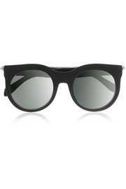 D-frame studded acetate sunglasses