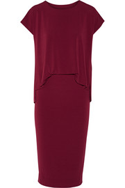 Bixia stretch-crepe dress