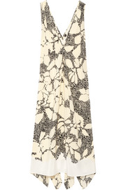 Quinesa printed silk-crepe dress