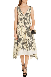 By Malene Birger Quinesa printed silk-crepe dress