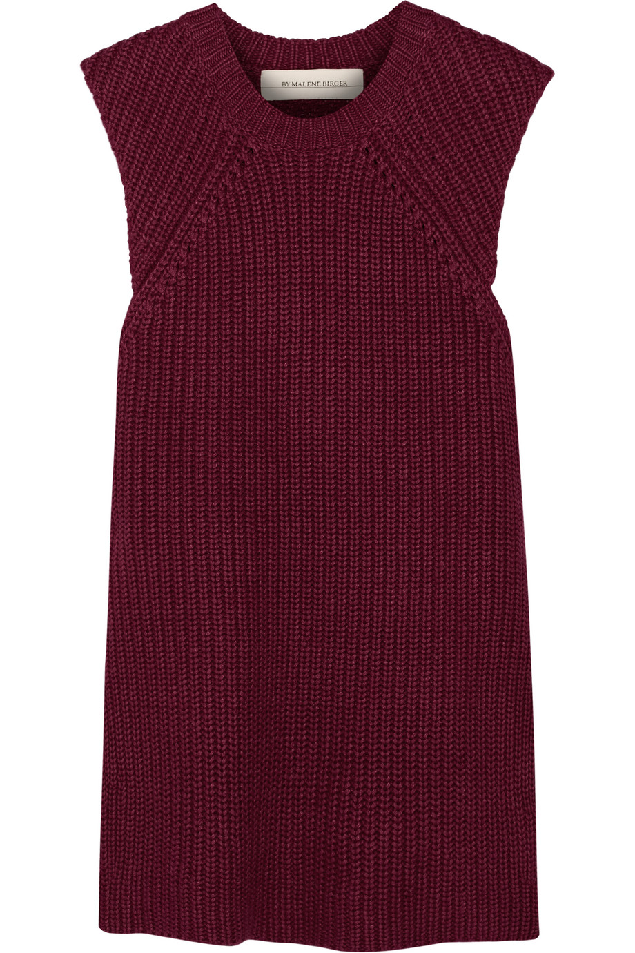 Darlis Ribbed Linen and Cotton-Blend Tunic, By Malene Birger, Burgundy, Women's