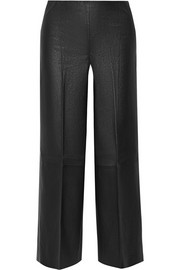 Drogada stretch-leather culottes