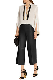 By Malene Birger Drogada stretch-leather culottes