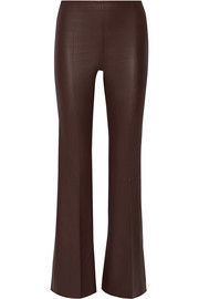 Rhise high-rise stretch-leather flared pants