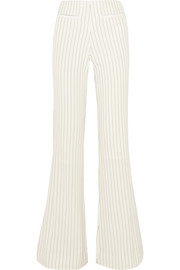 Cirah pinstriped stretch-crepe flared pants