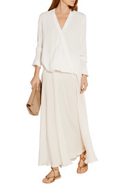 By Malene Birger Hailey wrap-effect crepe blouse