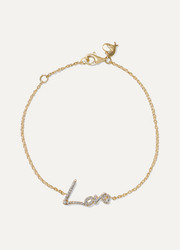 + Tracey Emin Love 18-karat gold diamond bracelet