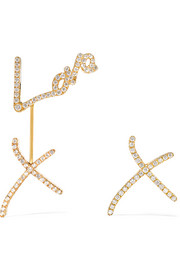 Stephen Webster + Tracey Emin Love 18-karat gold diamond earrings